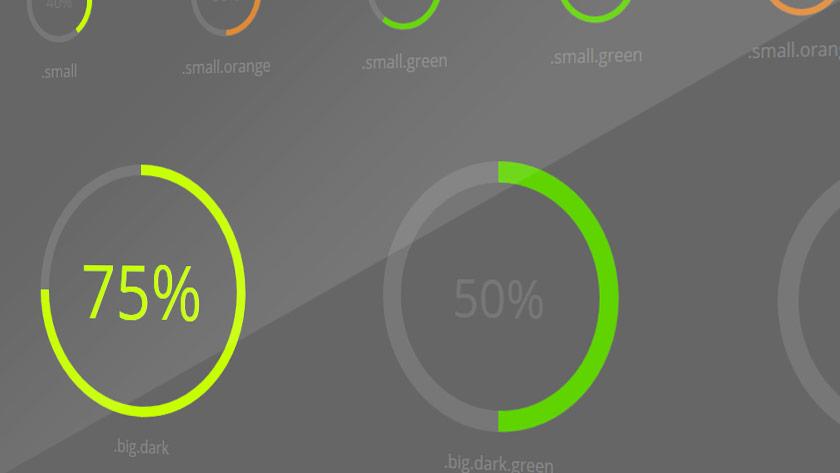 Percentage CSS3 Circle