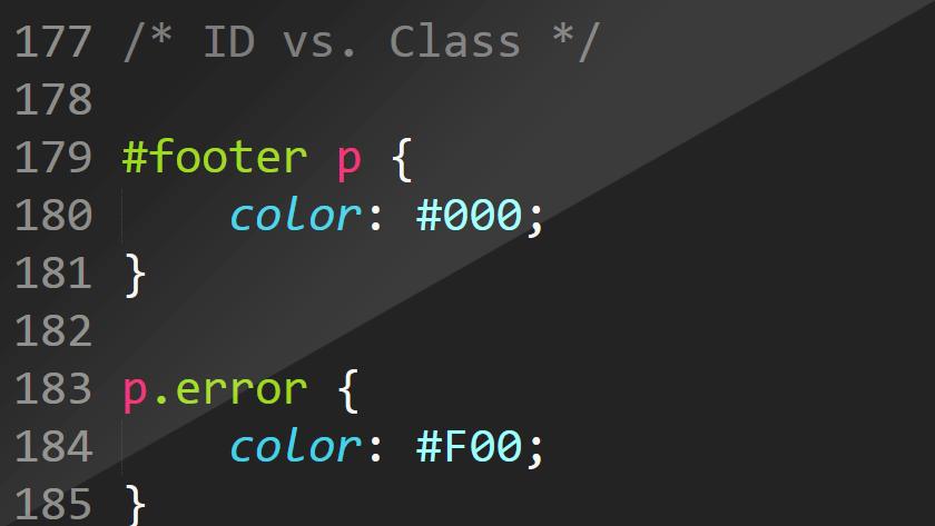 CSS Selektor. ID vs. Class